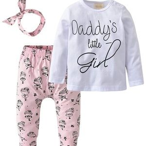 """""""Daddy's Little Girl"""" 3-Piece Outfit"""